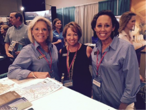 Karen Thompson, Kelli Lazzaro, and Martie Davy at the Expo