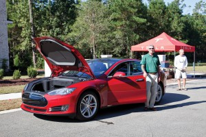 Last years Tesla event with Landfall Realtor Jim Coley.