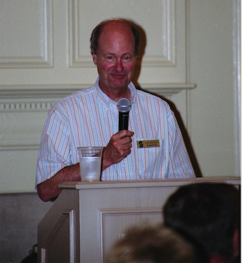 Ken Kirkman speaking at the Country Club of Landfall