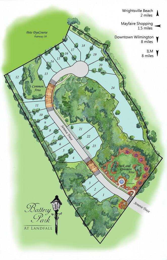 Battery Park Wilmington, NC Map